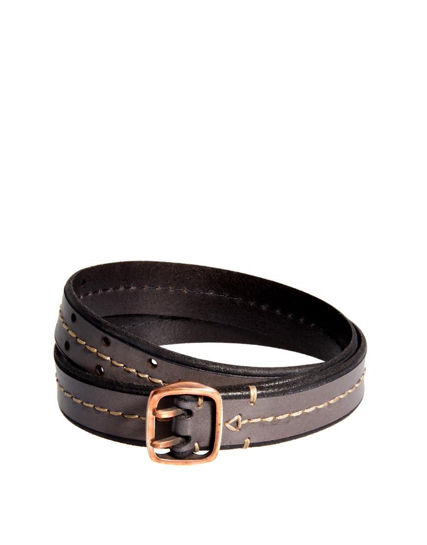 paul smith leather belt in blue for lyst