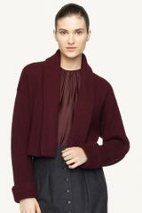 Ralph Lauren Black Label Cropped Merinoblend Jacket - Lyst