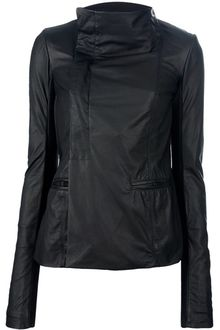 Rick Owens Fitted Asymmetric Jacket - Lyst