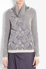 See By Chloé Tribal Intarsia Roll Neck Knit
