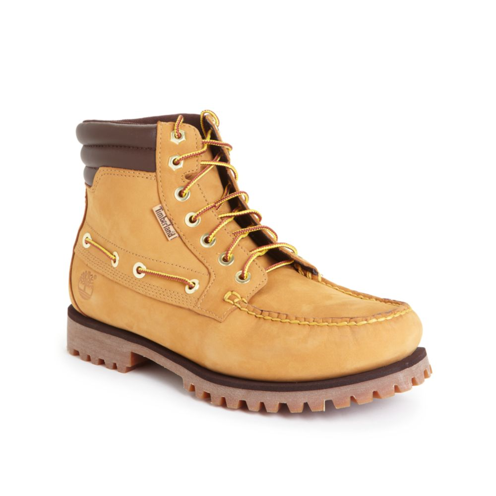 Lyst Timberland Oakwell 7 Eye Moc Toe Boots In Natural