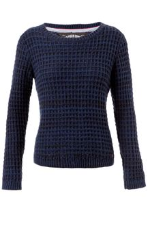 Tommy Hilfiger Long Sleeve Two Tone Knit Jumper with Crew Neck - Lyst