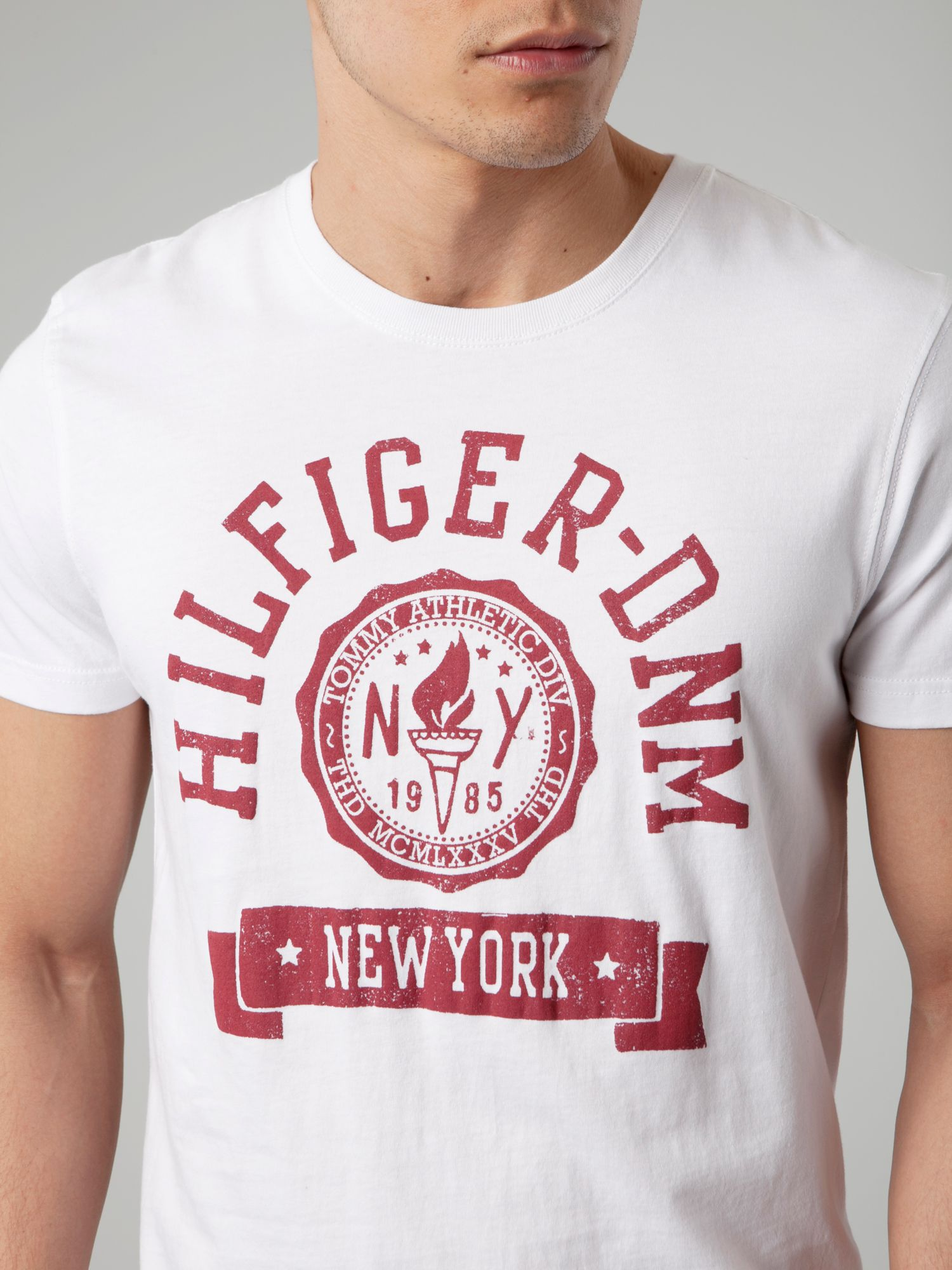 tommy hilfiger federer tshirt in white for men lyst. Black Bedroom Furniture Sets. Home Design Ideas