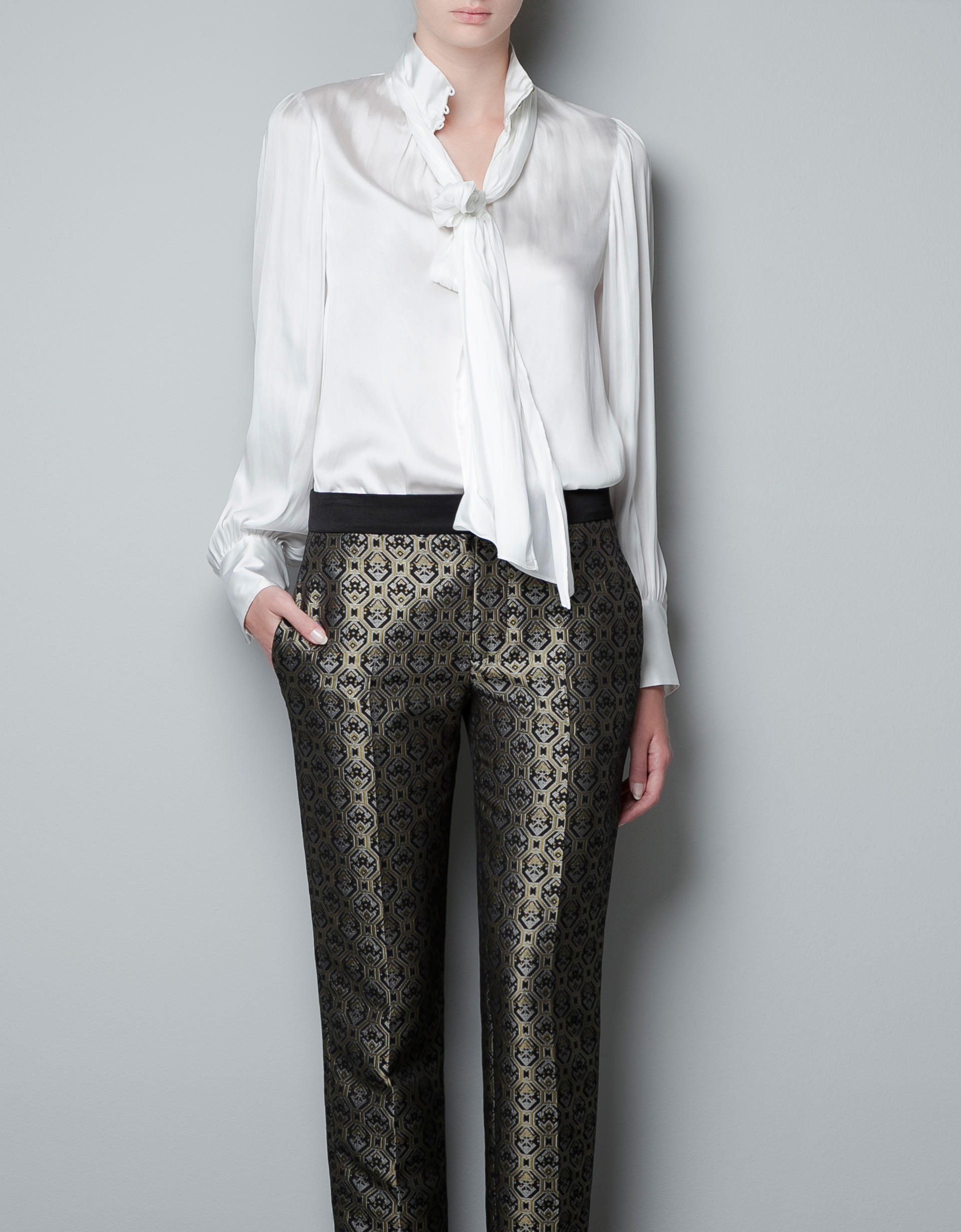 Zara Pintuck Blouse 18