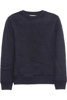 Acne Charlotte Quilted Merino Wool Sweater - Lyst