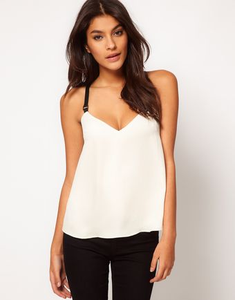 ASOS Collection Asos Cami with Contrast Elastic Straps - Lyst