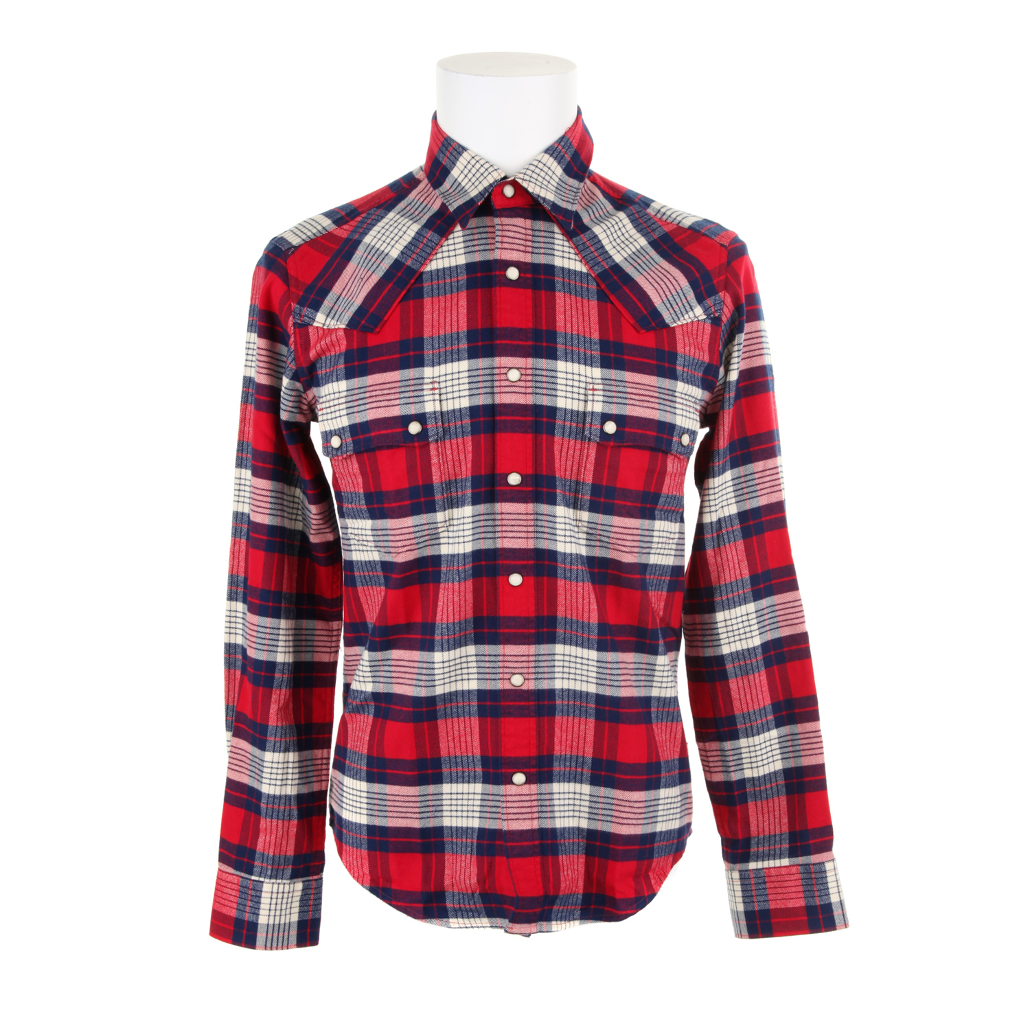 barbour frank plaid shirt in cotton flanel in red for men lyst. Black Bedroom Furniture Sets. Home Design Ideas