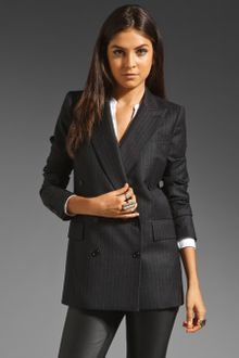 Blk Dnm Slim Fit Double Breasted Blazer - Lyst