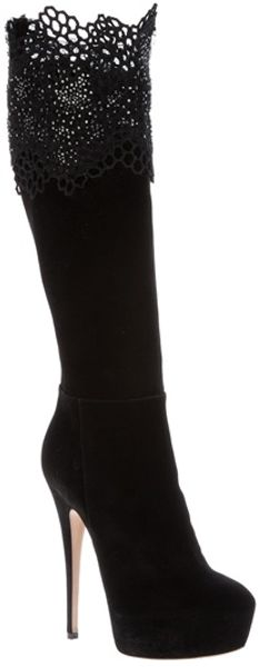 Casadei Honeycomb Detail Boot - Lyst