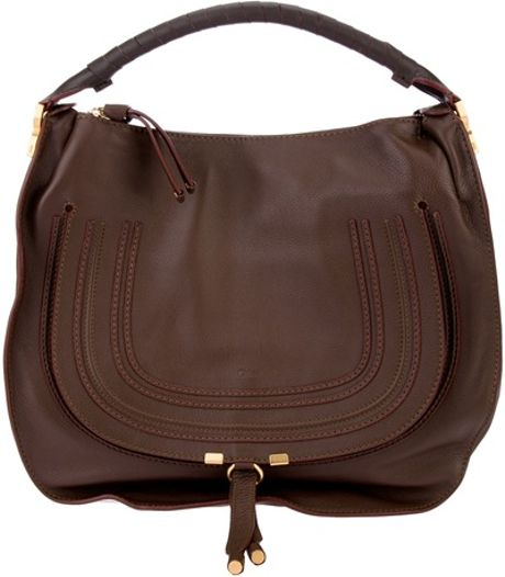 Chloé Marcie Tote in Brown - Lyst
