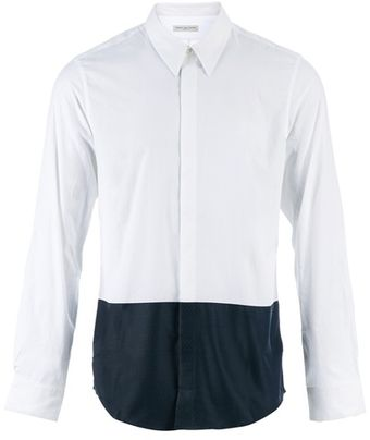 Dries Van Noten Twotone Shirt - Lyst
