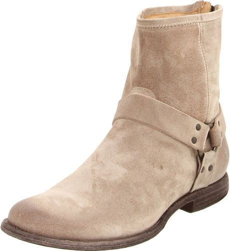 frye mens phillip harness boot in beige for sand lyst