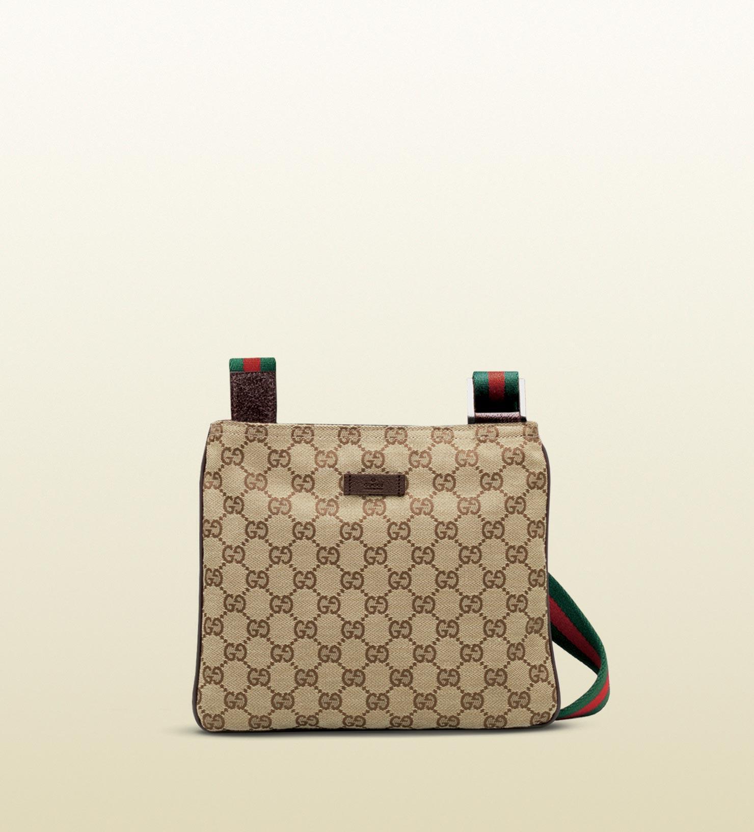 d2e04193d37 Lyst - Gucci Original Gg Canvas Messenger Bag in Natural for Men