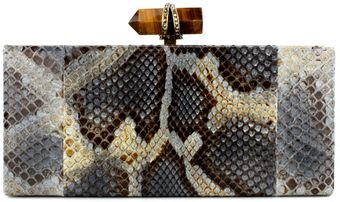 Marchesa Python Rectangular Box Clutch - Lyst