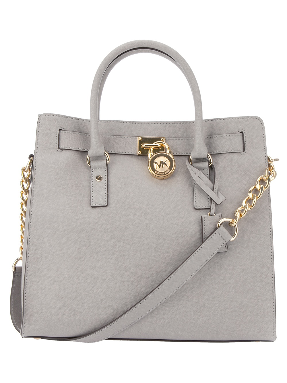 michael kors hamilton bag in gray grey lyst. Black Bedroom Furniture Sets. Home Design Ideas
