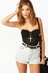 Nasty Gal Ghostly Denim Shorts - Lyst