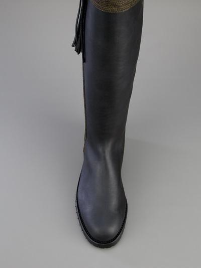 1f7204f90cf Penelope Chilvers Long Tassel Boot in Black - Lyst