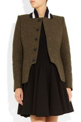 Stella Mccartney Natalie Wool Blend Tweed Jacket in Brown (bark) - Lyst