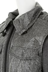 Alexander Wang Layering Effect Jacket in Viscose in Gray - Lyst