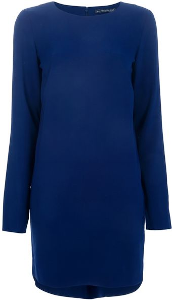 Balenciaga Long Sleeve Shift Dress - Lyst