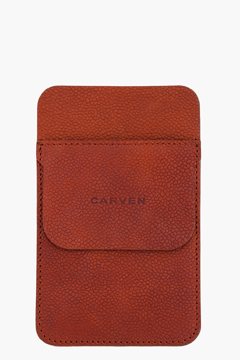Carven leather pocket protector in brown for men lyst
