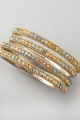 Chamak By Priya Kakkar Pave Crystal Bangles Set Of Four - Lyst