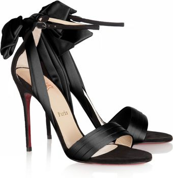 Christian Louboutin Vampanodo Satin and Suede Sandals - Lyst
