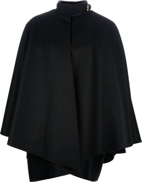 Gucci Cape with A Funnel Neck in Black - Lyst