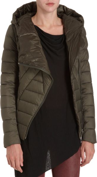 Helmut Quilted Puffer Coat In Green Olive Lyst