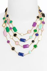 Kate Spade Pop Palette Statement Necklace - Lyst