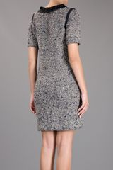 Lanvin Embellished Dress in Gray (blue) - Lyst
