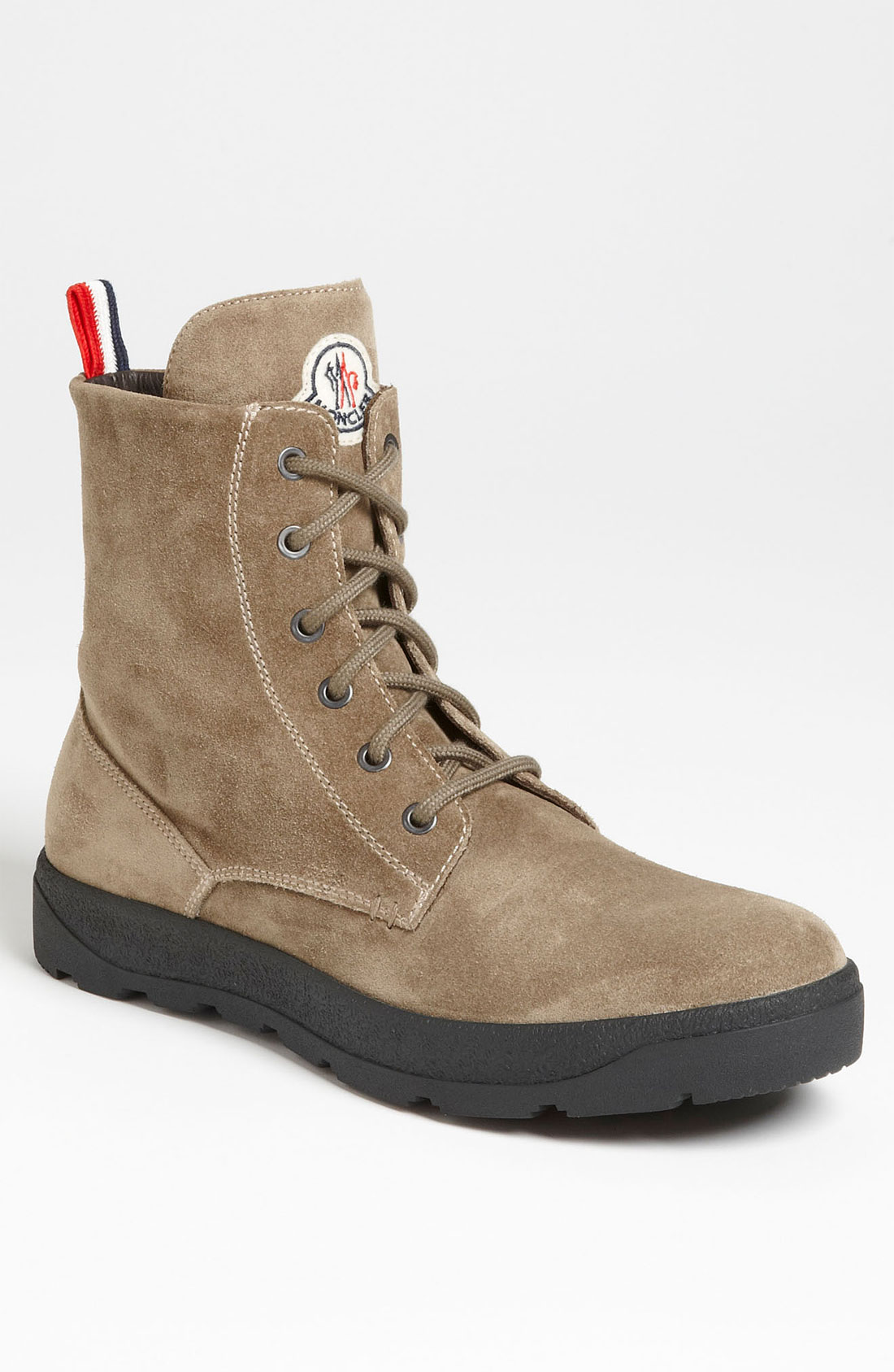 moncler park suede boot in beige for olive suede lyst