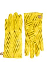 Moschino Cheap & Chic Perforated Heart Gloves