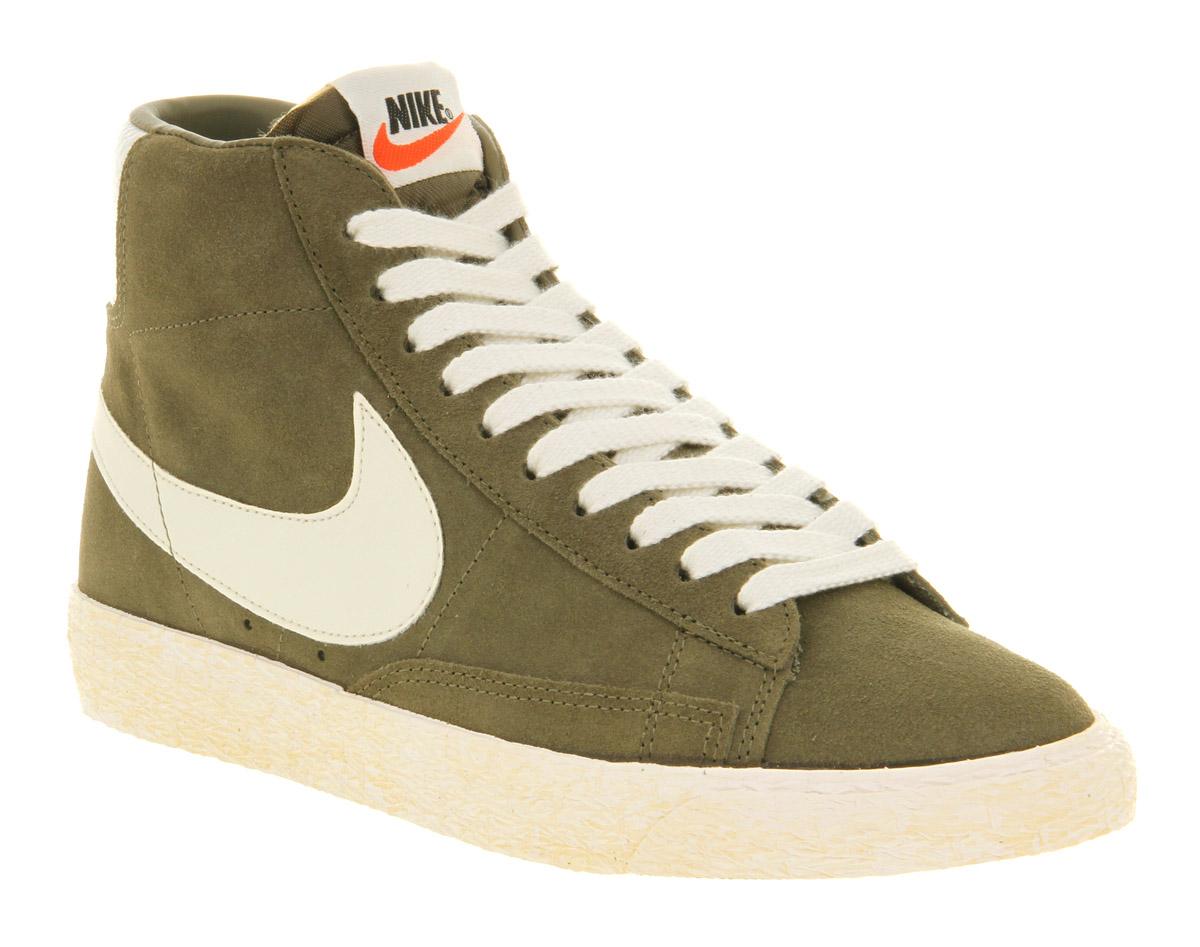 d1cb354d919c Lyst - Nike Blazer Hi Suede Vntage Medium Olive Sail in Green for Men