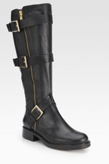 Pour La Victoire Voxen Leather Buckle Kneehigh Boots - Lyst