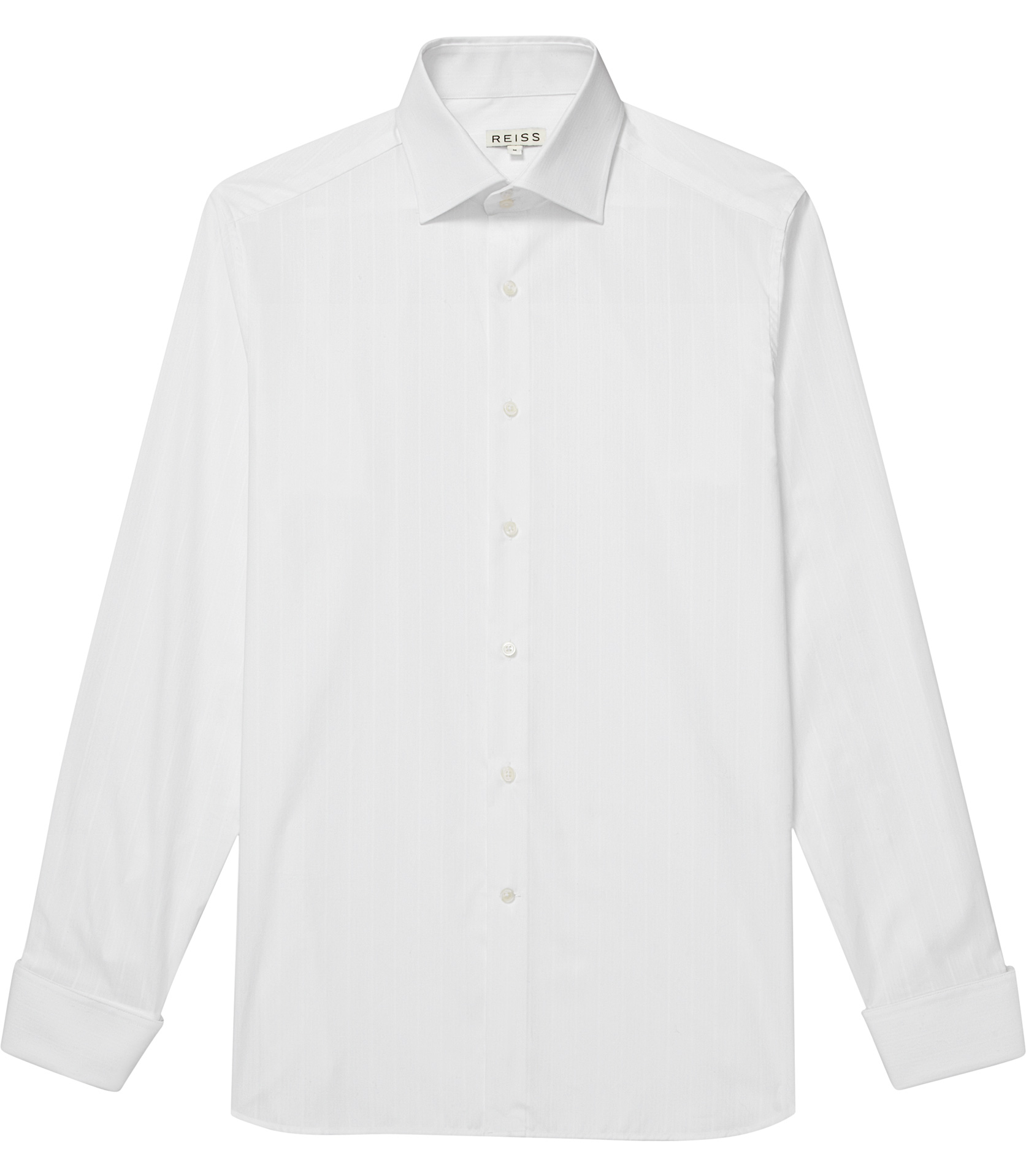 Reiss long sleeve cocktail cuff shirt in white for men lyst for Mens white cufflink shirts