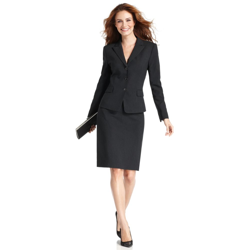 tahari two skirt suit in black lyst