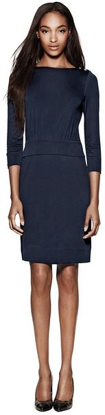 Tory Burch Sheila Dress in Blue (navy) - Lyst