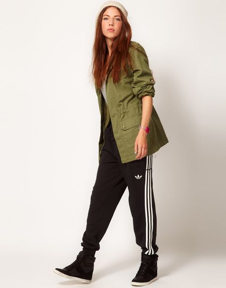 Adidas College Cuff Track Pant in Black - Lyst
