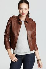 Anne Klein Faux Leather Jacket - Lyst