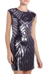 BCBGMAXAZRIA Sequined Ponte Dress - Lyst