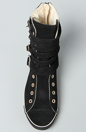 98ce40a9074c Lyst - Converse The All Star Light Multi Strap Boot in Black Suede ...