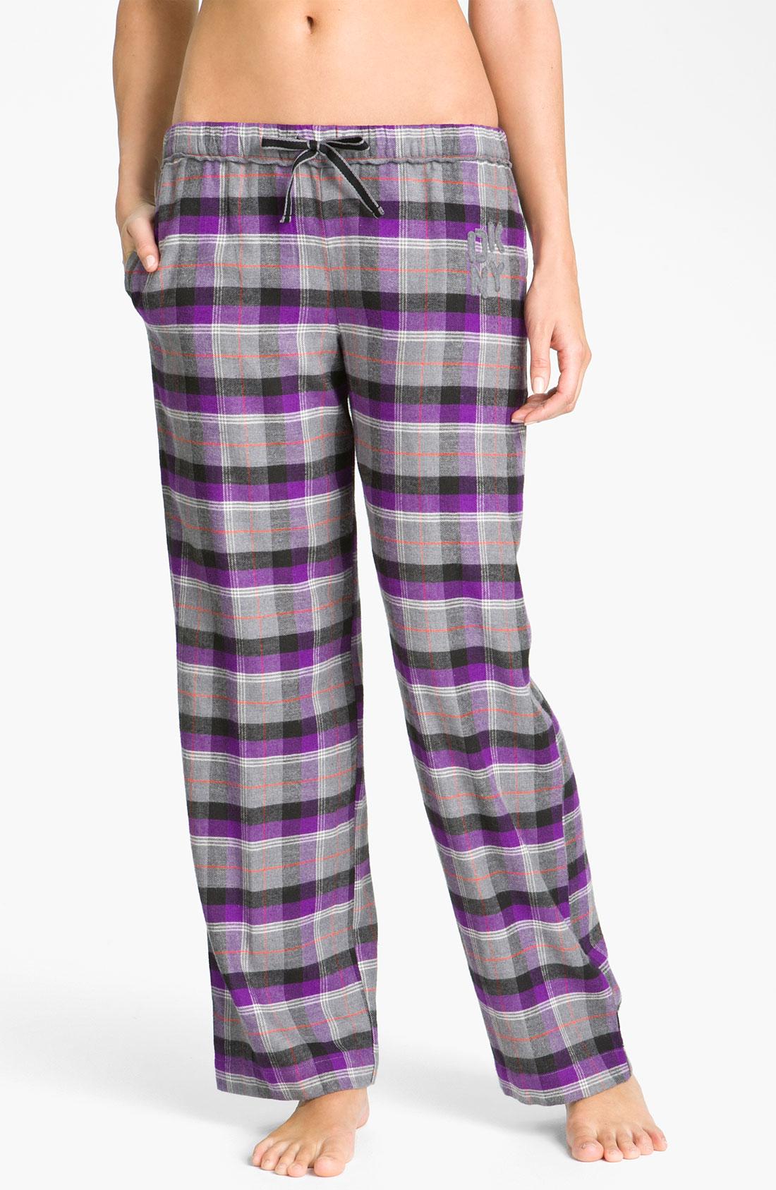 Dkny Pattern Play Flannel Pajama Pants in Purple | Lyst