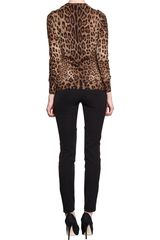 Dolce & Gabbana Leopard Crewneck Sweater in Animal (leopard) - Lyst