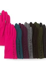 Echo Side Ruffle Touch Gloves