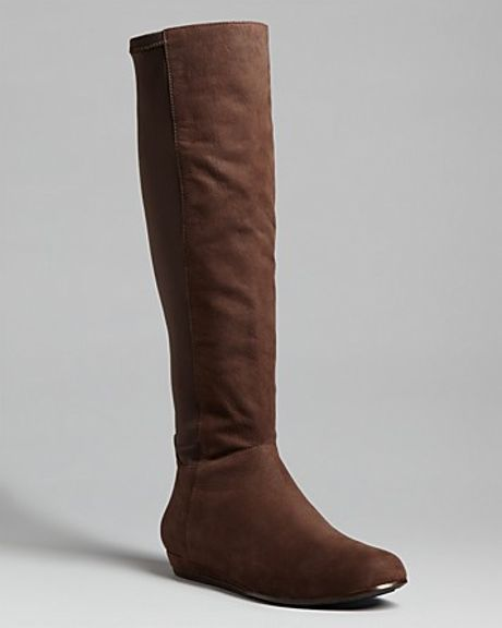 eileen fisher flat boots in brown