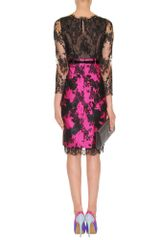 Erdem Ariel Lace Dress in Purple (black) - Lyst