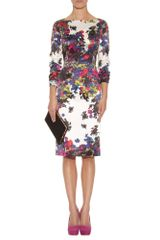 Erdem Irene Printed Silk Dress in Multicolor (floral) - Lyst