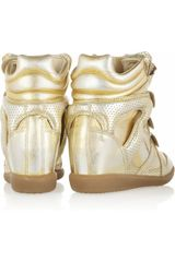 Isabel Marant Bird Metallic Leather Sneakers in Gold - Lyst