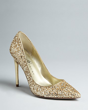 Lyst - Ivanka trump Pointed Toe Platform Pumps Kaydena Glitter in ...